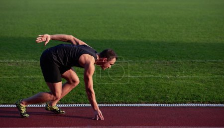 Athletic man sprinter