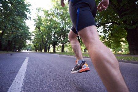 healthy athlete man jogging