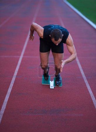 Athletic man sprinter
