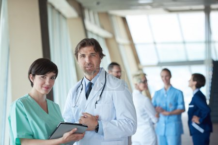 Group of medical staff at hospital