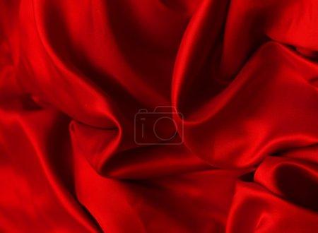 Photo pour Soie rouge élégante lisse peut utiliser comme fond - image libre de droit