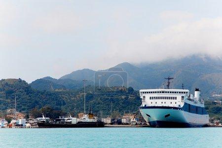 Port, Zakinthos, Greece island.