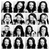 žena dělat různé výrazy