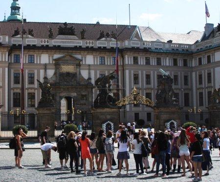Entrance to the Prague castle, Czech Republic.