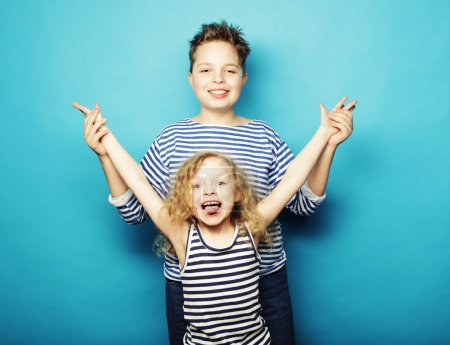 children - sister and brother