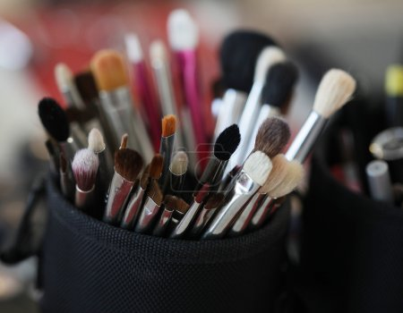 makeup tools in their holder