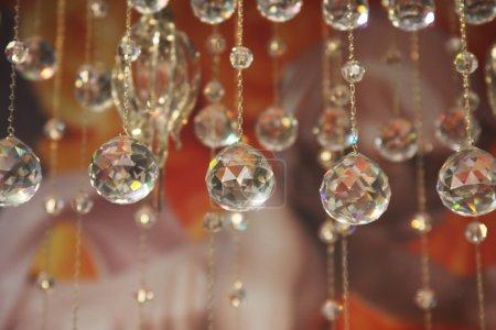 partie de cristal de lustre