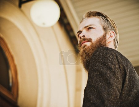 Photo for Portrait of young beautiful fashionable man outdoor - Royalty Free Image