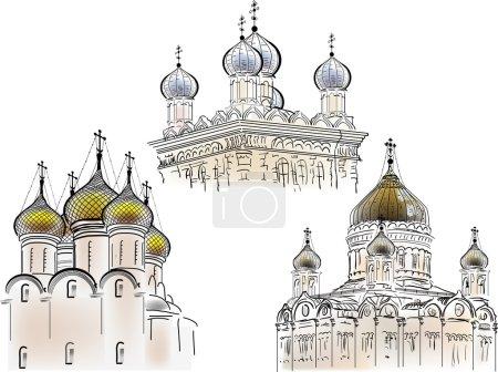 Orthodox churches sketches