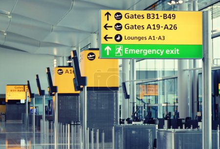 Photo for Airport information board - Royalty Free Image