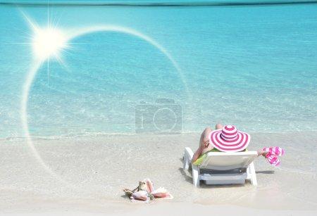 Photo pour Scène de plage. Great Exuma, Bahamas - image libre de droit