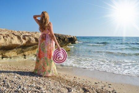 Girl on the rock, Cyprus