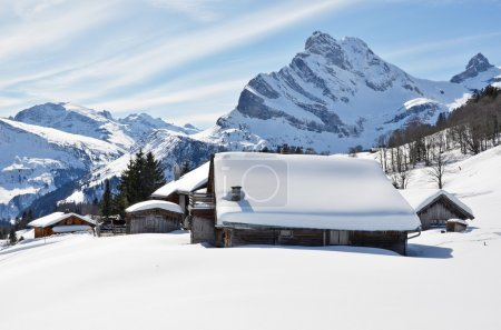 Winter in Braunwald, Switzerland