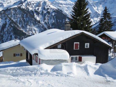Spring at skiing resort in Braunwald