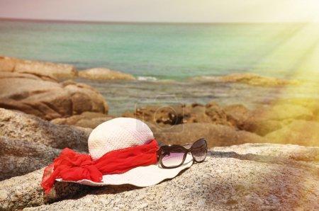 Hat and sunglasses on Phuket island