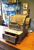 Vintage cash register in  pharmacy
