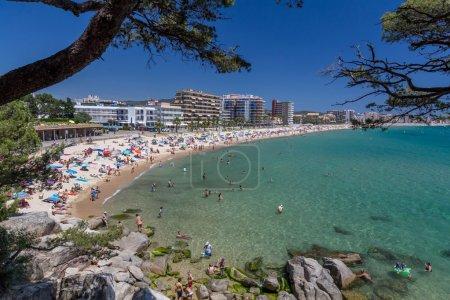 Photo pour Plage sur la Costa Brava (Sant Antoni de Calonge) de l'Espagne - image libre de droit