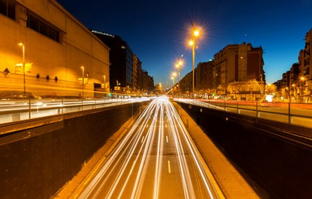 Photo for Night lights on the street - Royalty Free Image