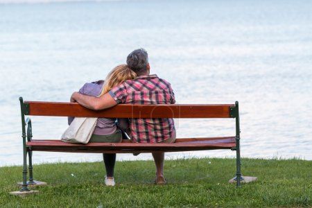 Photo for Couple on a bench - Royalty Free Image