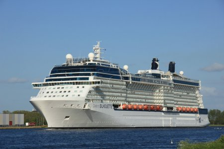 Velsen, The Netherlands - May 16 2015: Celebrity Silhouette