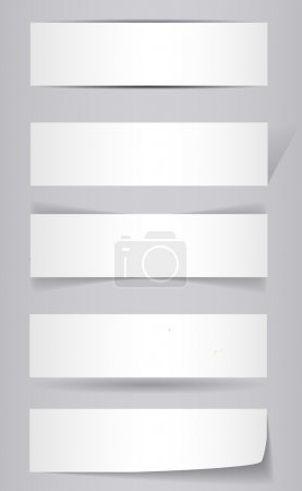 Illustration for White Banners with shadow - vector illustration - Royalty Free Image