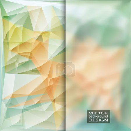 Illustration for Multicolor Design Templates with Frosted Glass Insert. Geometric Triangular Abstract Modern Vector Background. - Royalty Free Image