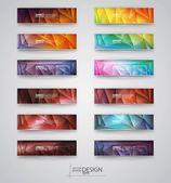 Color banners set Vector illustration