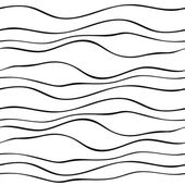 Abstract seamless pattern with wave lines Hand drawn graphic Simple stylized texture of covering Vector illustration