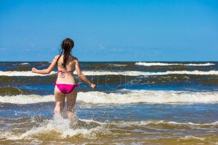 Girl ready to swim