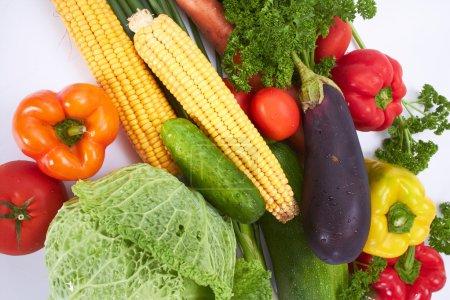 set of fresh vegetables