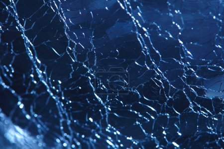 blue broken glass