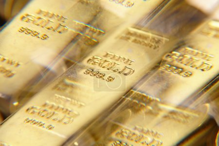 golden bars close up