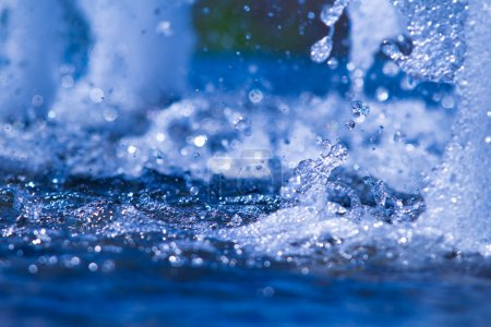 abstract water splashes
