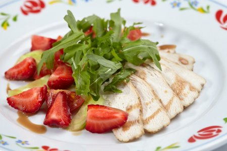 chicken fillet with salad