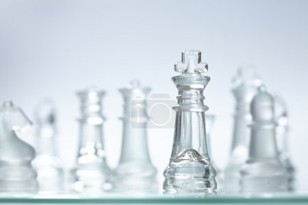 glass chess close up