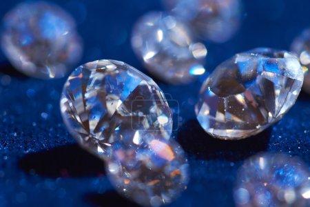 Diamonds on blue