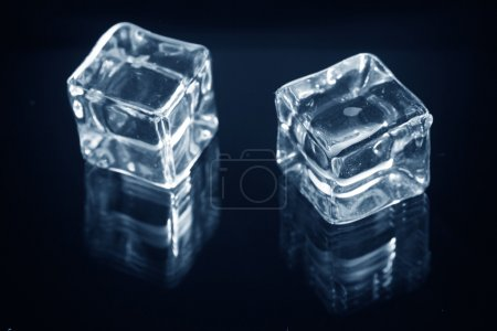 Photo for Ice cubes on black background - Royalty Free Image
