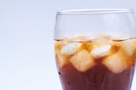 Photo for Fresh drink in glass with ice cubes - Royalty Free Image