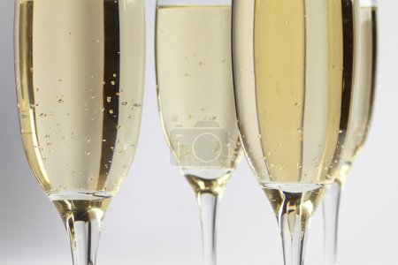 Photo for Champagne glasses on white background - Royalty Free Image