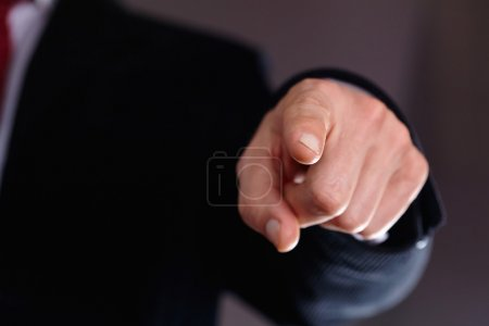 Man's hand pointing