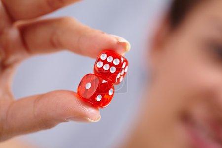 Success dice in hand