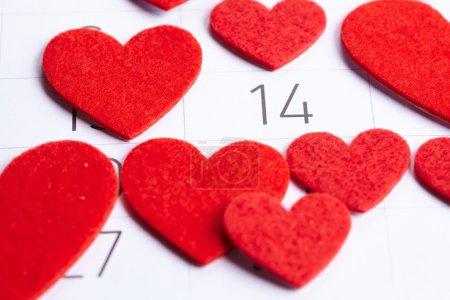 Calendar of Valentines day