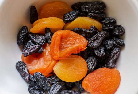 Dried fruits in a plate