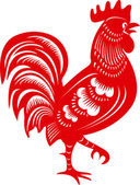 Rooster Cock Symbol of Chinese year zodiac