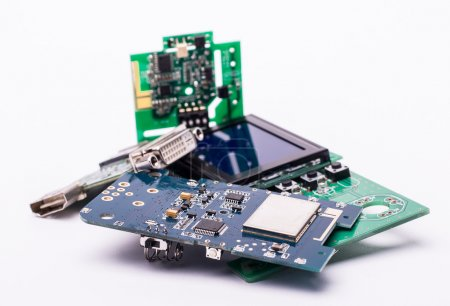 Photo for Circuit boards with a display - Royalty Free Image