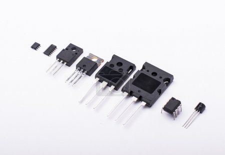 Photo for Different electronic components isolated - Royalty Free Image