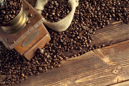 Photo for Coffee beans and coffee grinder - Royalty Free Image