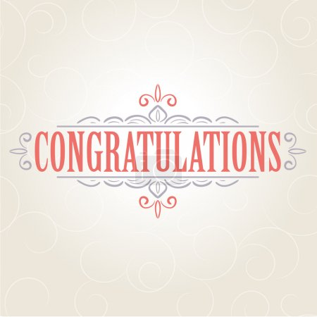Vector vintage Congratulations card