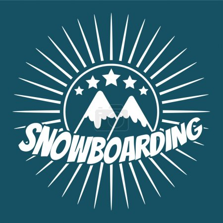 Flat snowboarding with mountains