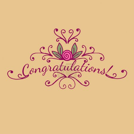 Decorative congratulations card